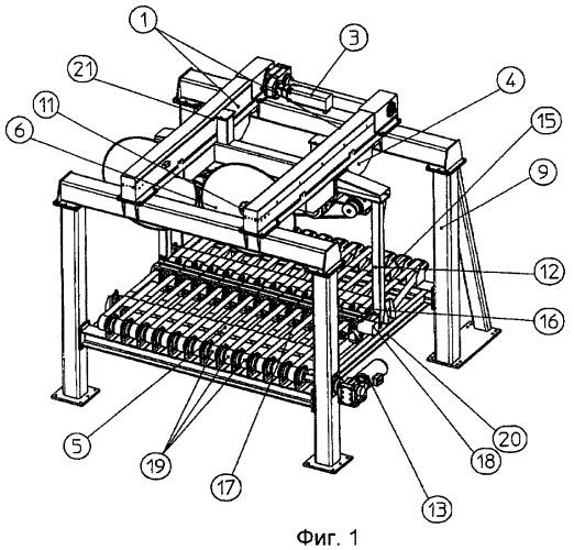 Отрезное устройство для конвейерной технологической линии