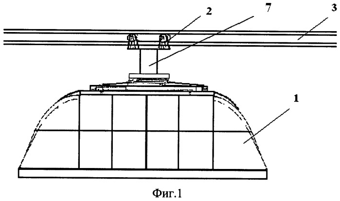 Посадочный модуль монорельсовой дороги для транспортной системы