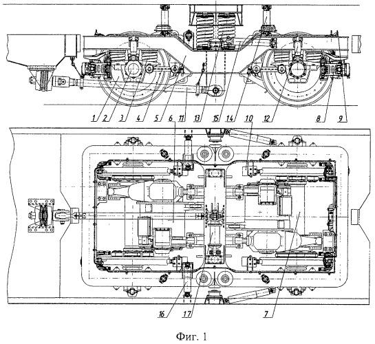 Тележка рельсового транспортного средства (варианты)