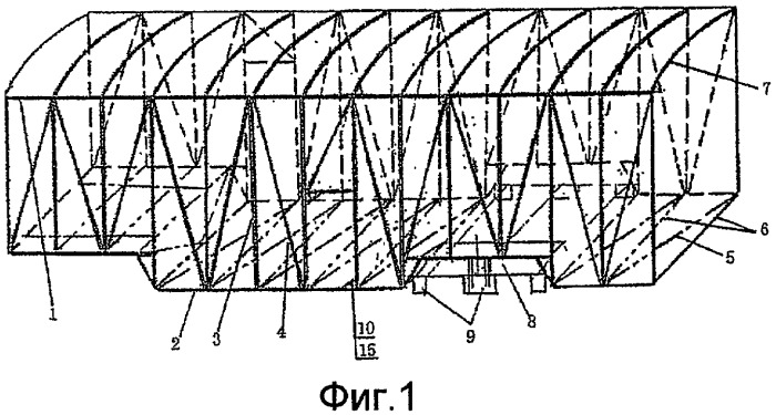 Интегральный грузовой отсек кузова транспортного средства