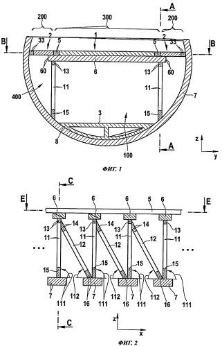 Силовой набор пола для фюзеляжа воздушного судна