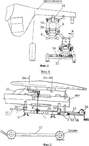 Устройство для транспортировки, подъема и подвески грузов на летательный аппарат