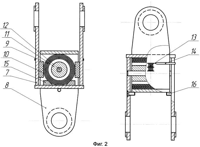 Устройство для измерения усилия натяжения каната грузоподъемного механизма