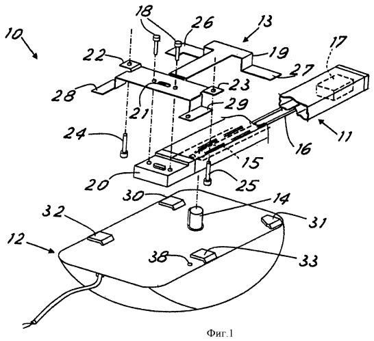 Потолочный привод для подвижных дверей