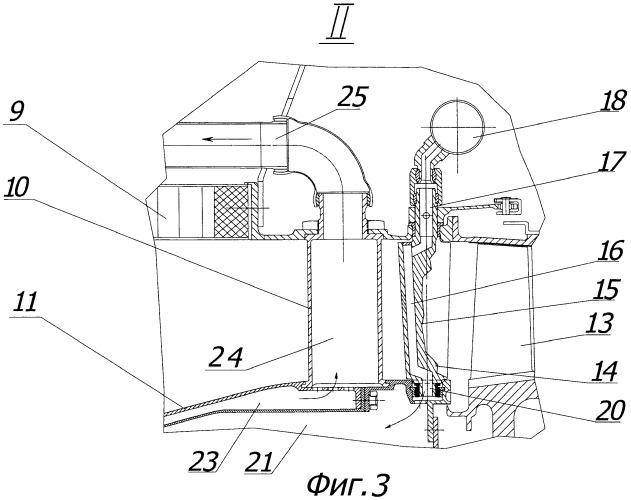 Газотурбинный двигатель с задним расположением винтовентилятора