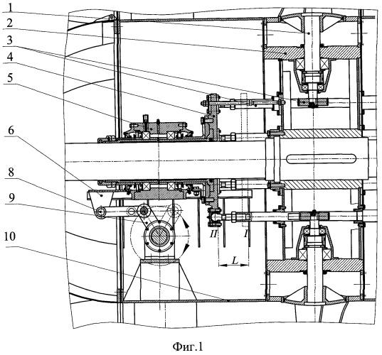 Рабочее колесо осевого вентилятора с механизмом поворота лопаток