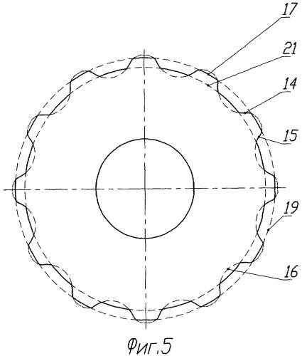 Эксцентриково-циклоидальное зацепление зубчатых профилей (варианты)