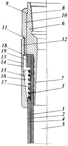 Устройство концевого соединения эластичного трубопровода