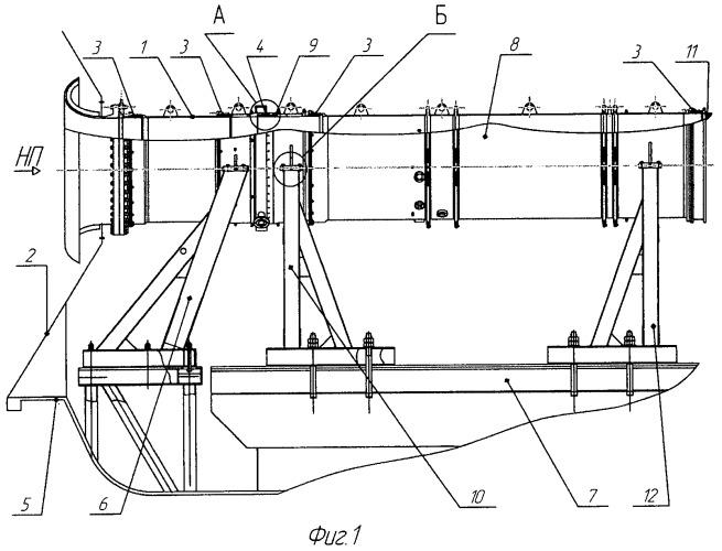 Входное устройство для испытаний газотурбинных двигателей в термобарокамере