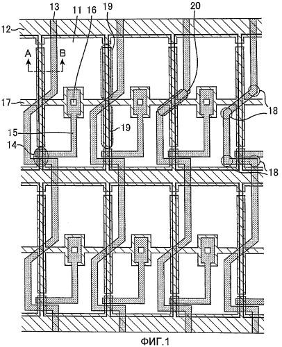 Подложка активной матрицы и жидкокристаллическое дисплейное устройство