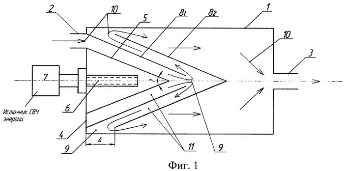 Устройство для микроволновой обработки водонефтяной эмульсии, транспортируемой по трубопроводу