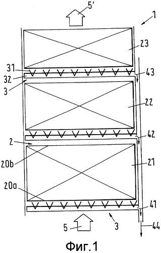 Устройство для отделения жидкости от потока среды, содержащего капельки жидкости