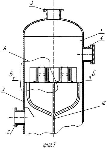 Газожидкостный сепаратор жалюзийного типа