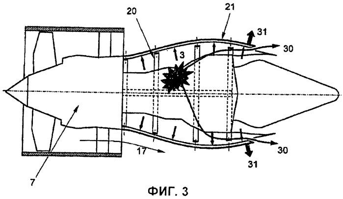 Гондола для двухконтурного турбореактивного двигателя