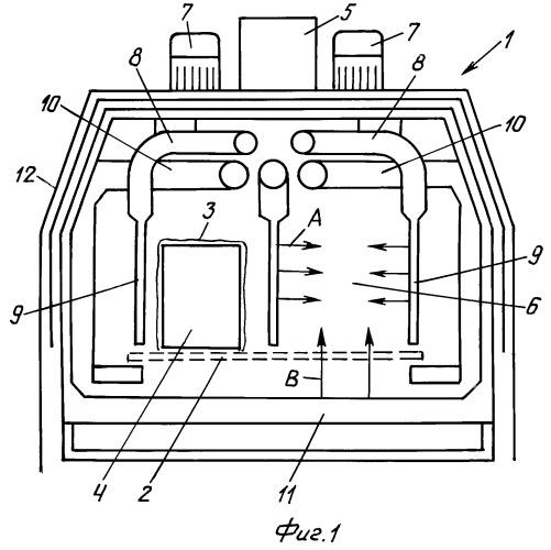 Усадочный туннель для осуществления процесса усадки термоусаживаемой пленки на упаковках или упаковочных элементах