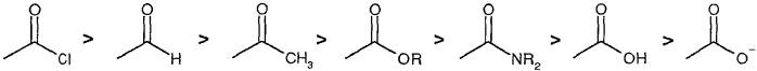 Способ щелочного гидролиза производных карбоновых кислот до карбоновых кислот