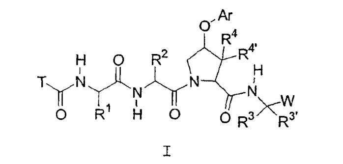2-амидо-4-арилокси-1-карбонилпирролидиновые производные в качестве ингибиторов серинпротеаз, в частности протеазы ns3-ns4a hcv