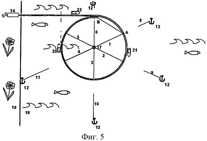 Способ укладки трубопровода в окружности на воде в горизонтальной плоскости