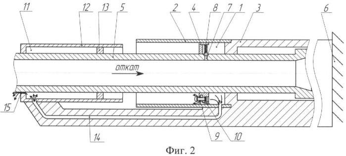 Способ торможения ствола огнестрельного оружия при выстреле и устройство для его осуществления