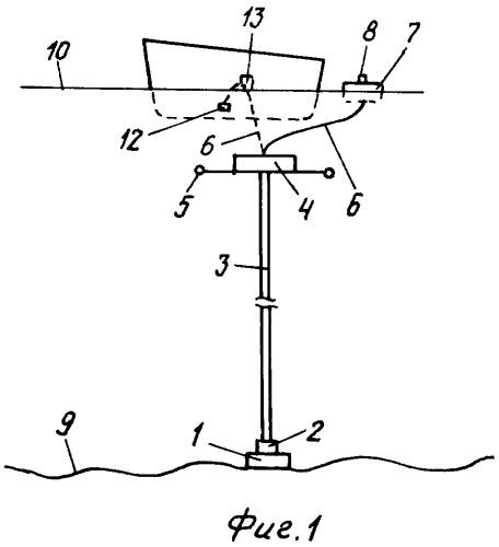Устройство для стационарного отбора воды в придонном слое океана