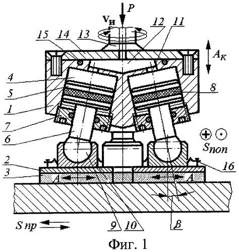 Устройство для алмазно-абразивной обработки плоских поверхностей