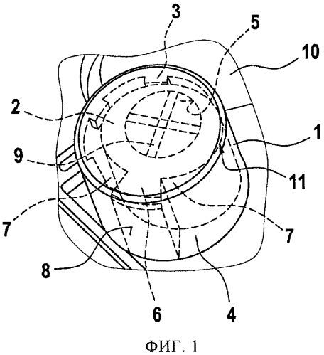 Уравнивающий давление элемент для корпуса и автомобильный электрокомпонент с таким уравнивающим давление элементом