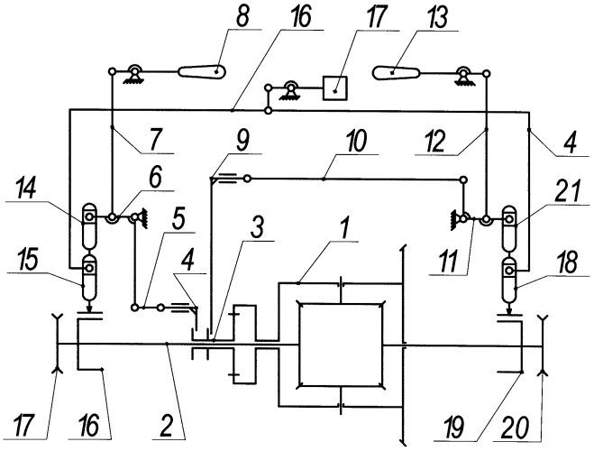 Дифференциальный механизм поворота гусеничной машины