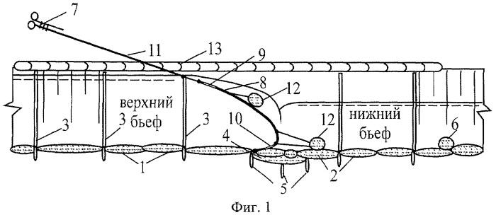 Подпорно-регулирующее сооружение на грунтонаполняемом флютбете и способ его возведения
