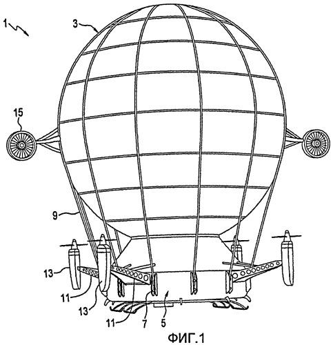Воздушное транспортное средство с гибридной подъемной силой