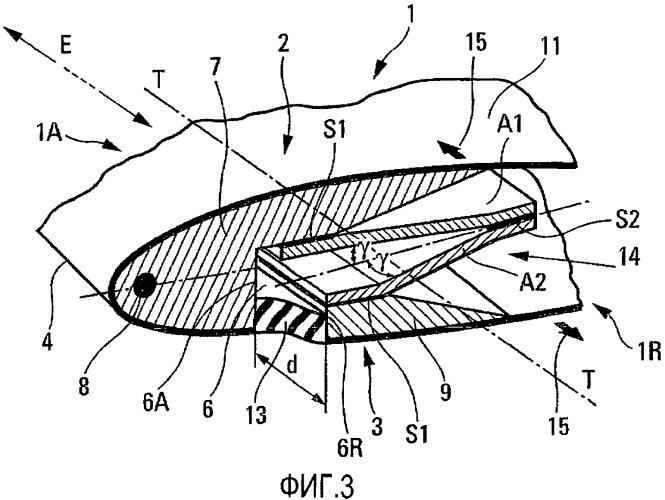Удлиненный аэродинамический элемент, деформируемый при кручении