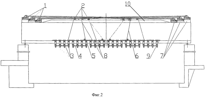 Устройство для размещения стальных тросов без взаимного влияния в подъемном кране с множеством точек подвеса