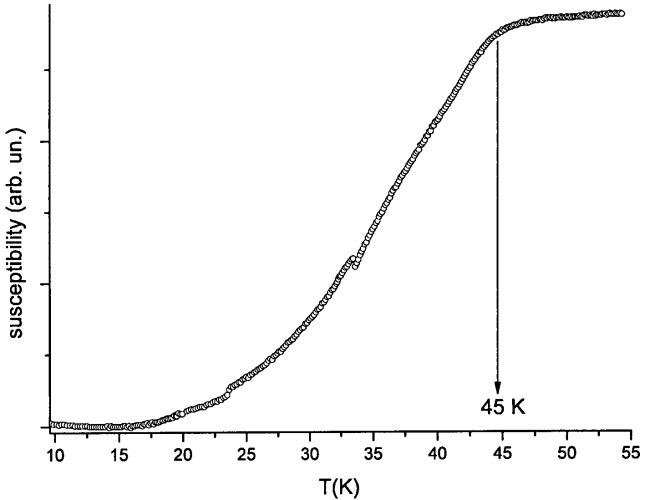 Способ получения высокотемпературного сверхпроводника в системе натрий-теллурид сурьмы