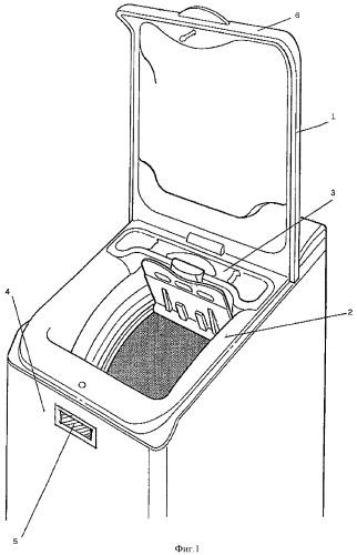 Стиральная машина с верхней загрузкой со средством управления на передней стороне крышки