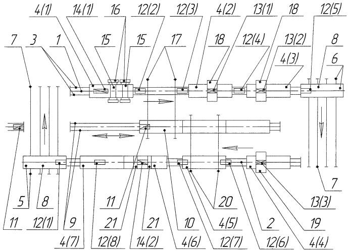 Поточная линия для ремонта звеньев рельсошпальной решетки железнодорожного пути