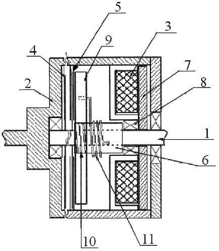 Электромагнитная многодисковая муфта с самоподжимом
