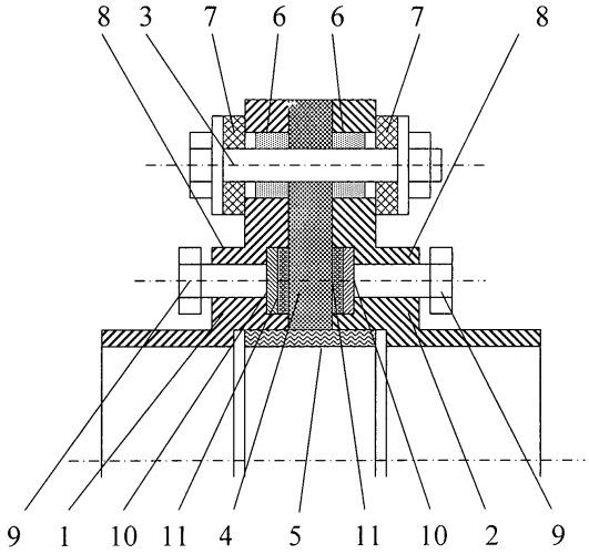 Фланцевое соединение на высокое давление с диэлектрическим разъемом трубопровода