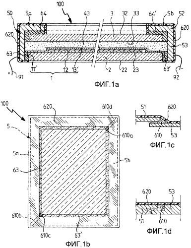 Активное устройство с изменяемыми свойствами пропускания энергии/света