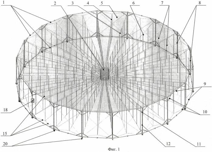 Развертываемый крупногабаритный космический рефлектор и способ его наземной отработки