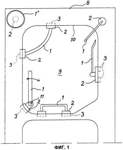 Устройство для подвешивания или хранения предметов, прикрепляемое к мойке