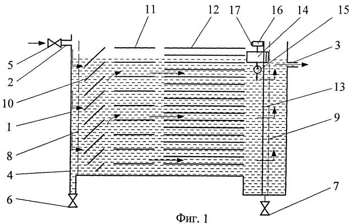 Многосекционное устройство тонкослойной очистки больших объемов воды от механических примесей
