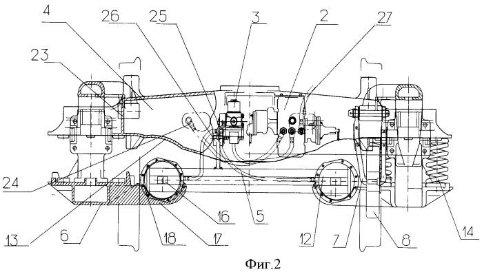 Система тормозного оборудования подвижного состава
