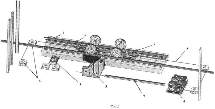Устройство для перемещения железнодорожных вагонов