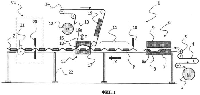 Устройство и способ вакуум-формованного упаковывания в пленку