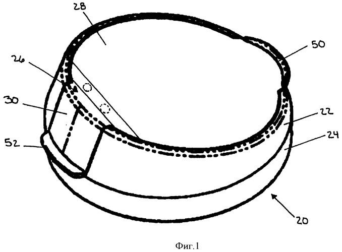 Двухсекционный узел крышки контейнера