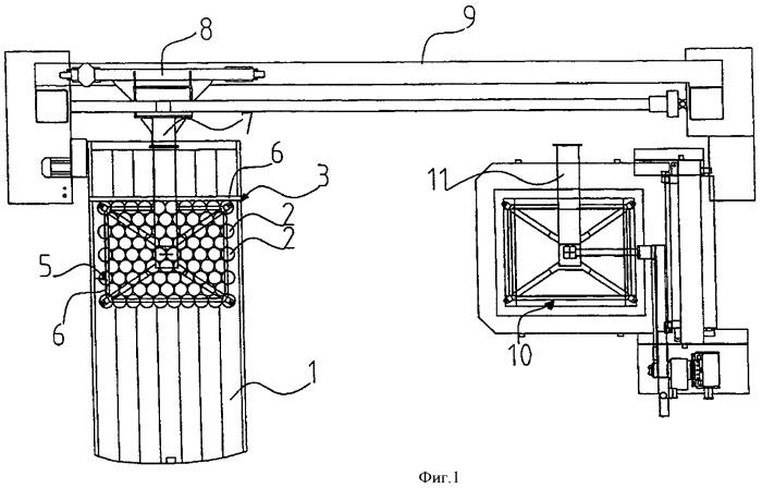 Устройство для подъема поддона, на котором установлено множество контейнеров или подобных емкостей