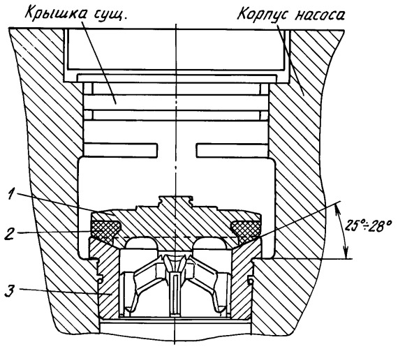 Клапанный узел плунжерного насоса для обслуживания скважин