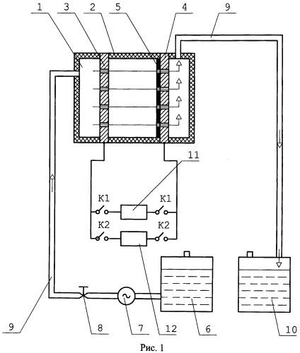 Способ получения электрической энергии путем ее электрохимической генерации и устройство для его реализации