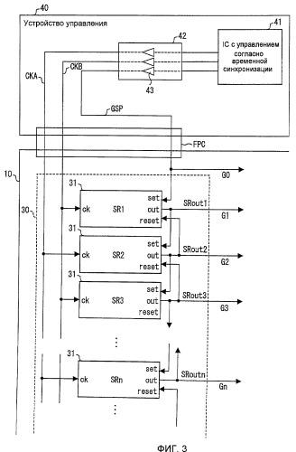 Дисплейное устройство и способ для возбуждения дисплейного устройства