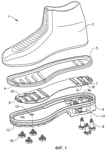 Устройство шипа для нескользящего ботинка