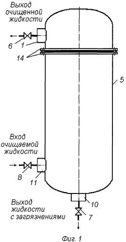 Мембранное устройство для очистки жидкости